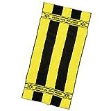 Borussia Dortmund BVB Badetuch mit Blockstreifen, Baumwolle, Schwarz/Gelb, 180 x 70 x 1 cm