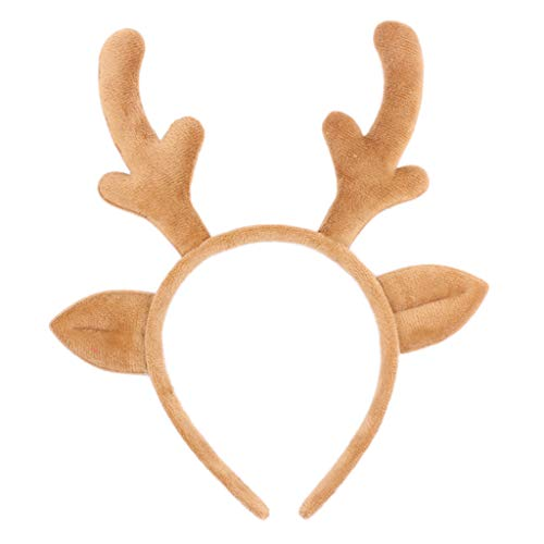Shallwet carino corna da renna con fascia, Kawaii Fashion Cloth Christmas Elk Antlers capelli Hoops fermagli per anime Cosplay Party costume e quotidiano indossare