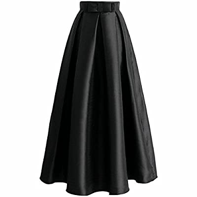 JANAK Women's Silk Skirt(DN124, Blue, Medium)