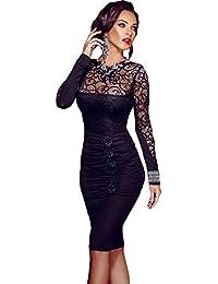 Ovender® Vestiti Eleganti Corti Mini da Donna Ragazza Abito Vestito Donne  Ragazze Impero Formale Elegante 24fe8116307