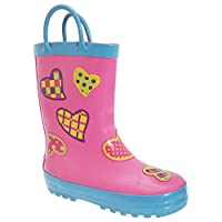 Cotswold Childrens Puddle Boot / Girls Boots (32 EUR) (Hearts)