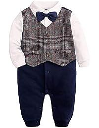 eade04c23bed2 Ywqwdae Combinaison Vêtement Bébé Costume Baptême Bébé Garçon Costume  Mariage