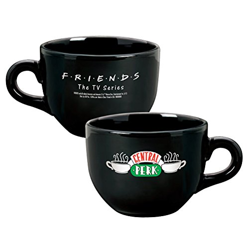 Friends Central Perk Keramik Latte Kaffee Tasse, Schwarz 24 Oz - Nyc-kaffee-tasse