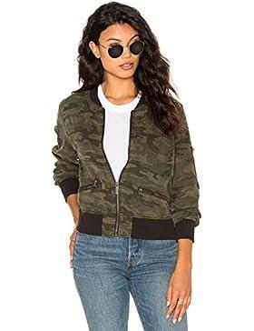 Blooming Jelly Donna Giacca Mimetiche Camouflage A Maniche Lunghe Bomber Classico Leggero Corta Giacche Jacket