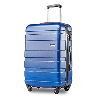BTM Super Lightweight ABS Hard Shell Travel Carry On Cabin Hand Luggage Suitcase with 4 Wheels, Approved for Ryanair, Easyjet, British Airways, Virgin Atlantic, Flybe and Many More