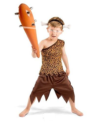an Kostüm Boys, 3-teilig, Kinder Größe S (Feuerstein-outfits)