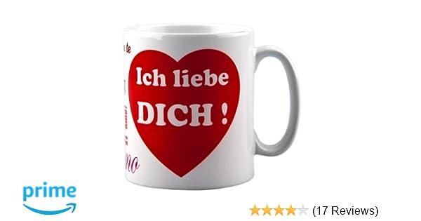 Amazon De Tasse Ich Liebe Dich Mit Aufdruck Ideale
