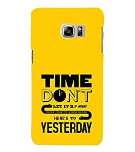 Time Don't Yesterday Glass 3D Hard Polycarbonate Designer Back Case Cover for Samsung Galaxy Note 7 : Samsung Galaxy Note 7 N930G : Samsung Galaxy Note 7 Duos