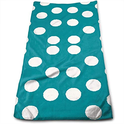 Jxrodekz Pretty Polka Dots in Teal Kitchen Dish Towels with Vintage Design for Use In Kichen at Paties,Weddings,Dinners Or Events,12
