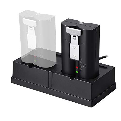 Ladestation und 1er Akku-Paket kompatibel mit den wiederaufladbaren Batterien für Ring Spotlight Cam Battery, Ring Video Doorbell 2, Ring Stick Up Cam Battery HD und Ring Door View Cam Video 2 Cam
