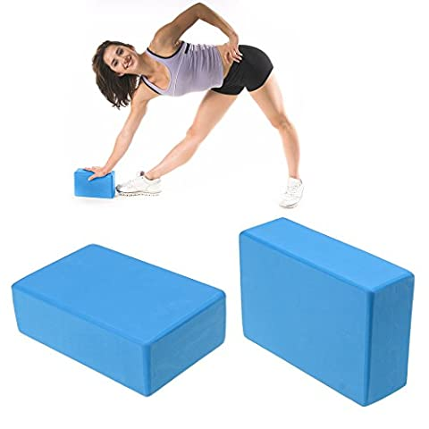 Yoga Block Set of 2, 9 x 6 x 3