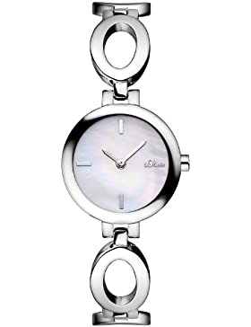 s.Oliver Damen-Armbanduhr XS Analog Quarz Edelstahl SO-2806-MQ