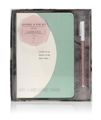 Preisvergleich Produktbild npw Wir Leben Wie dieses Tagebuch & Pen Set