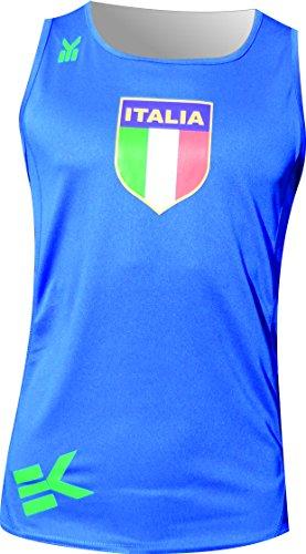 Ekeko ITALIA, ITALIA TANK, Herren running tank top, Laufen T-Shirt für das Laufen, Leichtathletik und Strandsportarten, sehr atmungsaktiv und leicht, XL