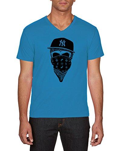 Touchlines NY Gangster, Camiseta para Hombre, Azul (Azur 49), X-Large
