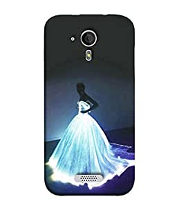 PrintVisa Designer Back Case Cover for Micromax Canvas HD A116 :: Micromax A116 Canvas HD (Girl Fairy White Dress Glowing Gown)