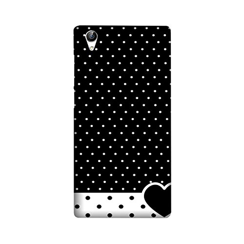 theStyleO Quality Printed Back Cover for Vivo Y51L [Black Heart Dotted Pattern]