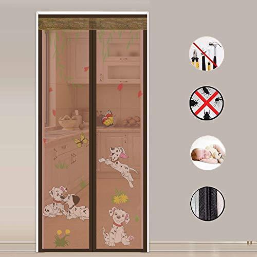 Drucken Fliegengitter Tür,heavy Duty Magic Tape Durable Fiberglass Vorhang-sieb Anti-moskito-pest-vorhang-c 100x200cm(39x79inch) -