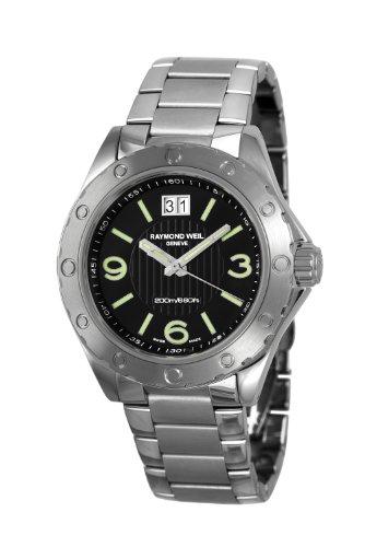 Raymond Weil - 8100-ST-05207 - Montre Homme - Quartz Analogique - Cadran Noir - Bracelet Acier Argent