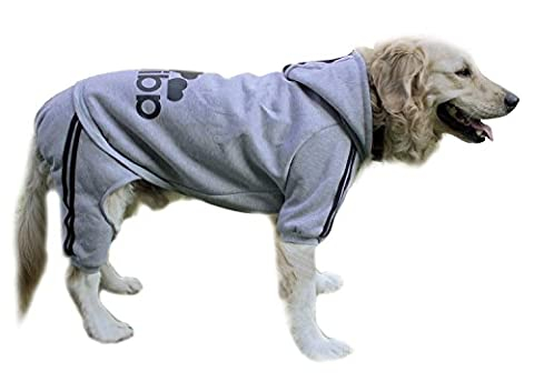 Costumes Pour Animaux Pour Les Grands Chiens - Scheppend Adidog Grand Chien Hoodies Sweat-shirt Chien