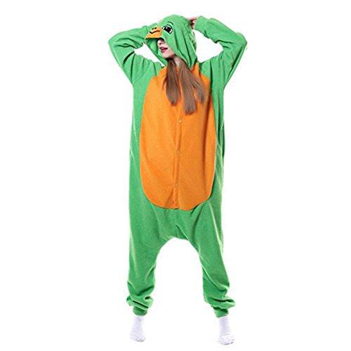 Pyjama Erwachsene Tier Jumpsuits Flanell Nachtwäsche Karnevals Cosplay kostüme(Grün Schildkröte, L(Fit Höhe:169cm-178cm/66