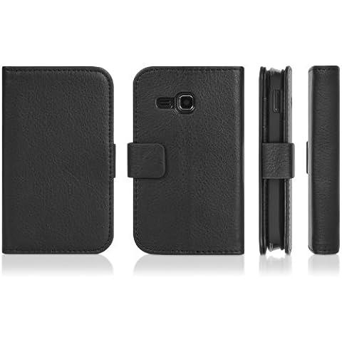 DONZO Wallet Structure Custodia per Samsung Star Deluxe DuoS S5292 nero