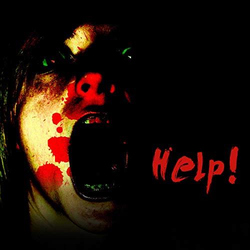 PerGrate Halloween-Prop-hängender Schädel-Geist mit glühenden Roten Augen-Soundeffekt-Hexen-Dekoration