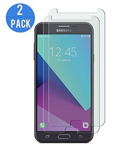 CXG Galaxy J7 2017 Protector de Pantalla,Transparente Templado Vidrio 2.5D[2-Pack]J7 Cristal Vidrio 9H Alta Definicion Screen Protector Anti Fingerprints Cristal Templado para Samsung Galaxy J7 2017
