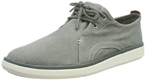 Timberland Gateway Pier Casual, Zapatos de Cordones Oxford para Hombre, Gris Medium Grey Canvas, 43...