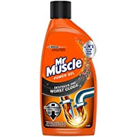 Mr Muscle Power Gel Plughole Unblocker for full clogs 500ml