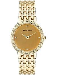 Jean Bellecour REDS20 - Reloj de pulsera Mujer, Chapado en acero inoxidable, color dorado