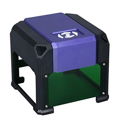 SWEEPID 3000mW High Speed Lasergravur Maschine, USB DIY Carving Graveur Handwerk Holzofen Werkzeuge Automatische K5 Typ mit 80 * 80mm Große Gravurfläche (K5-Lila) - Maschine Stein Carving