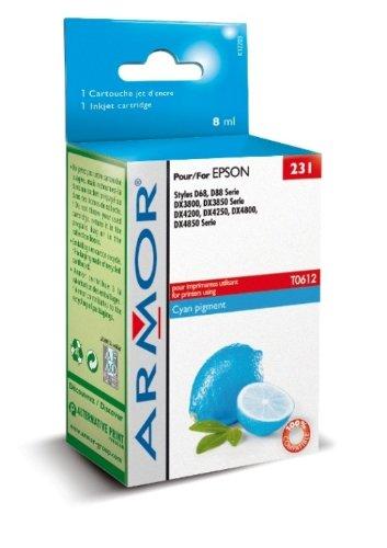 Armor Tintenstrahldruckerkartusche für Epson T061240 oder entsprechende Modelle Cyan - 88 Cyan Inkjet