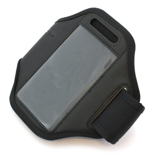 Hülle, Sportarmband, Armtasche, Handytasche, Oberarm-Tasche, Arm Case, Hülle in schwarz für Apple iPhone 3 / 3G / 4 / S, BlackBerry 9105 Pearl / Pearl 8100 / Pearl 8110 / Pearl 8120, HTC 7 Mozart / 7 Trophy / Desire S / Legend A6363 / Magic / Radar / Rhyme / Touch Diamond 2 / Touch Pro / Wildfire, Huawei G6603 / G6608 / U8650 Sonic / U8850 Vision, LG GD880 mini / KE970 Shine / KF600 / KM570 / KU800 / GC900 Viewty / GW 300 / KB770 / KF900 Prada / KM900 Arena / KP500 / LT 320 Cookie Lite / Optimus Hub E510 / Optimus Net P690 / Handyhülle, Schutzhülle für Sport und Joggen 3g Htc Magic