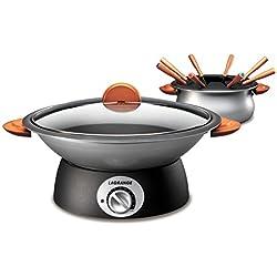 Lagrange 349006 Wok & fondue Classic Poignées bois 2 en 1