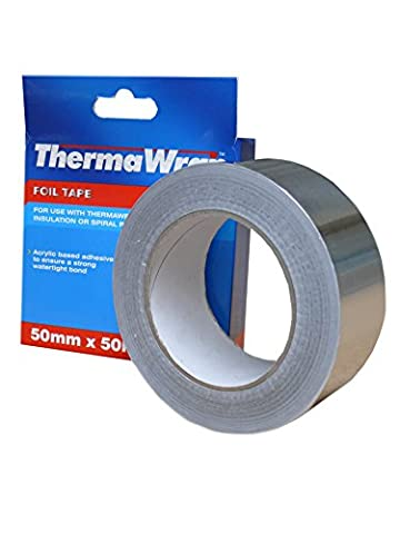 Thermawrap 50m x 50mm x 50 x 30m Foil Tape Acrylic Based Adhesive to Ensure Strong Watertight Bond