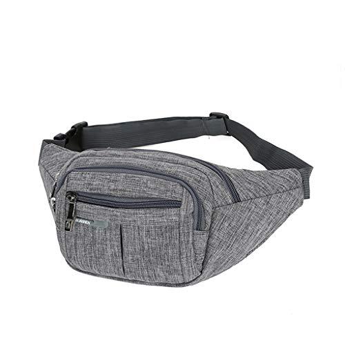 Dasongff Gürteltasche Bauchtasche Multifunktionale Hüfttasche 3 Fächer mit Reißverschluss Geeignet für Reise Wanderung und Alle Outdoor-aktivitäten für Damen und Herren