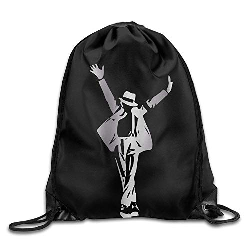 Dhrenvn Outdoor Michael Jackson Silhouette Platinum Style Drawstring Backpack