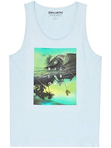 Billabong CROSS Abschnitt Tank T-Shirt Herren Sky Blue