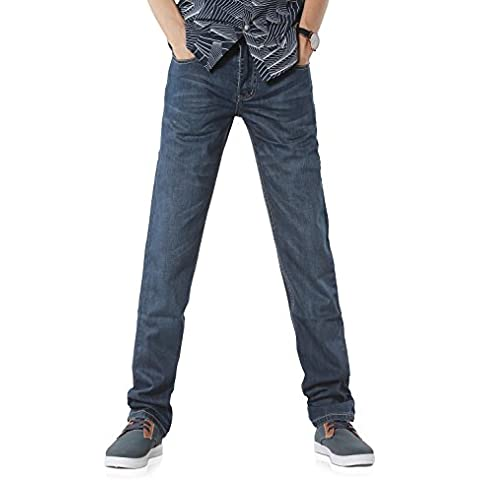 Demon&Hunter Vaqueros corte recto Jeans para Hombre 800X/No.3