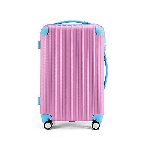Borsa portabagagli opaca in ABS a 360 ° Borsa a tracolla in scatola da trasporto in alluminio da 20 pollici / 24 pollici ( Colore : 4 , dimensioni : 20 inch ) 5