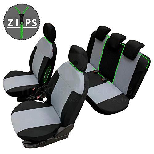 rmg-distribuzione Coprisedili per Corsa Versione (2006 - in Poi (D;E)) compatibili con sedili con airbag, bracciolo Laterale, sedili Posteriori sdoppiabili R01S0622