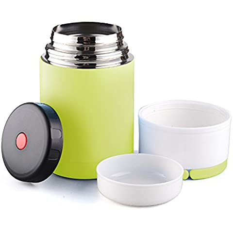 oumosi 800ml con aislamiento térmico de vacío de acero inoxidable alimentos Jar de hojas de almuerzo contenedor