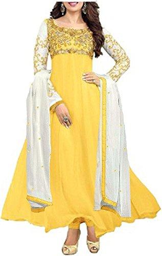 Sky Creation Women\'s Georgette Anarkali Suit (74365_Free Size_SKY BLUE)