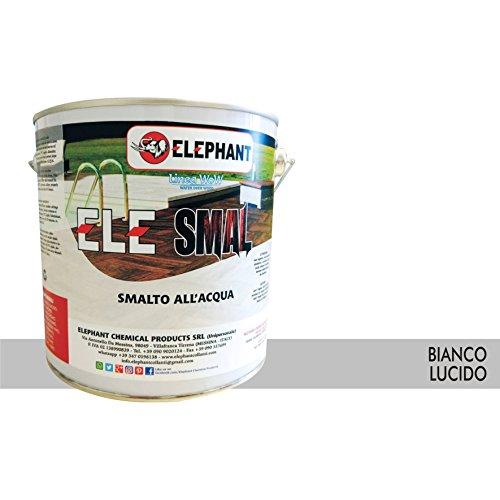 Smalto vernice all'acqua ELE SMAL 2,5lt - Legno (Bianco lucido)
