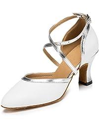 Minitoo - Chaussures De Danse En Cuir Pour Les Femmes, Rouge, Taille 37.5