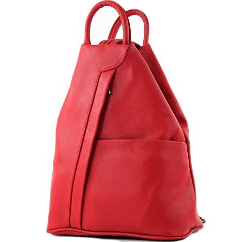 013a8edd90901 Rote Lederrucksäcke - Die besten 20 roten Rucksäcke aus Leder