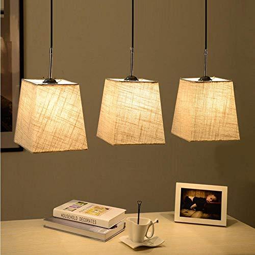 Elegante Decke Esszimmer Pendelleuchte Overhead Lampe Lampe Licht Combi 3 Flammen beige Textil E27x3x40 Max [Energieklasse A ++] Overhead-lampe