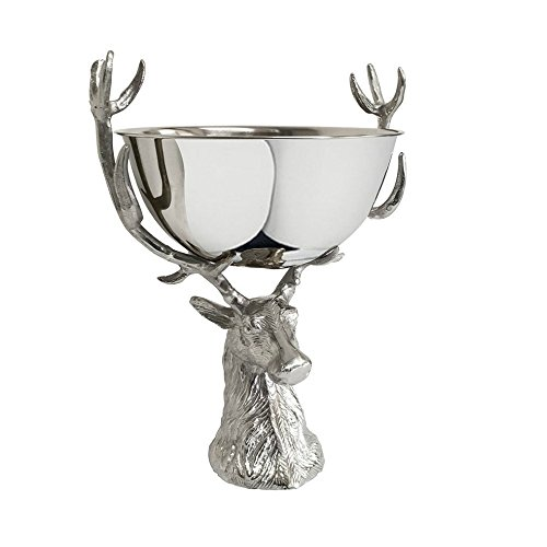 Culinary Concepts Punch Bowl with Stag Head Stand -