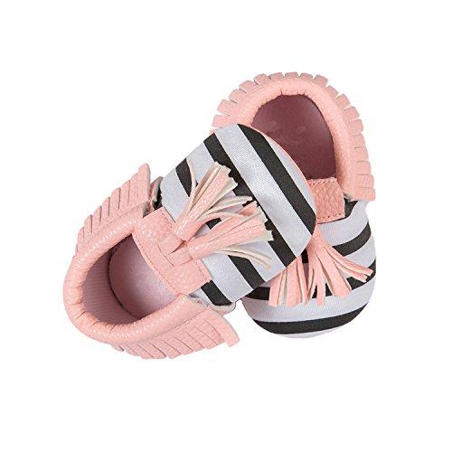 Nicetage Süß Mädchen Schuhe Laufternshuhe Krabbelschuhe für 0-18 Monate Baby Neugeborenen Schuhe Pink